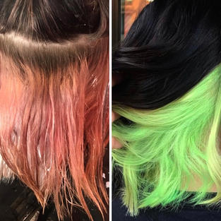 Color Remover, Lightener Retouch, and Lime Green