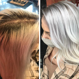 Lightener Retouch and Root Tap
