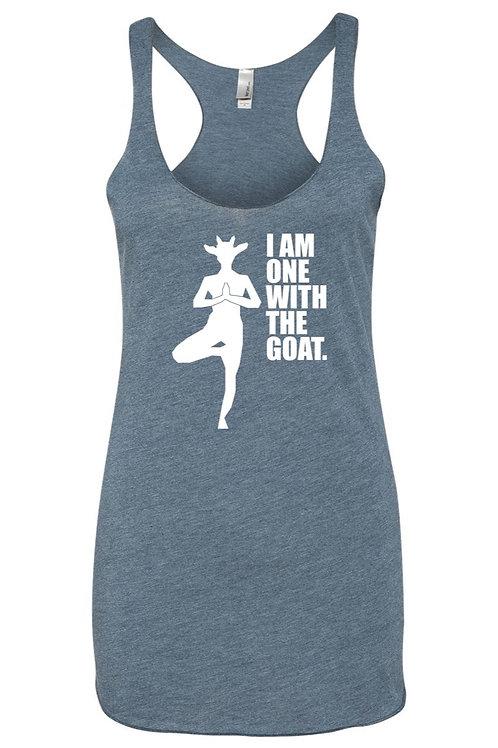 Goat Yoga Tank -  Navy