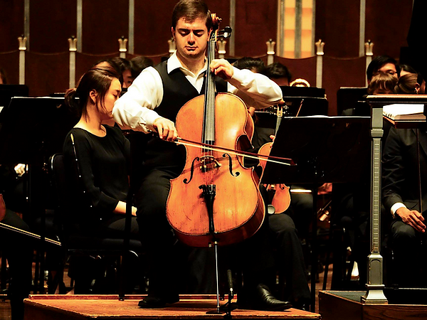 Daniel Kaler performing in Severance Hall in September 2018.