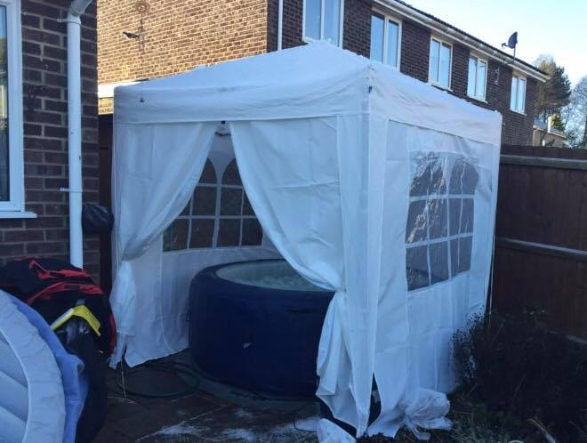Hot Tub in Gazebo 2m x 2m - Hot Tub Hire - www.bigbouncybriers.co
