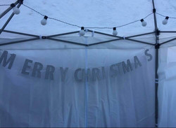 Christmas Decorated Gazebo 2m x 2m - Hot Tub Hire - www.bigbouncybriers.co