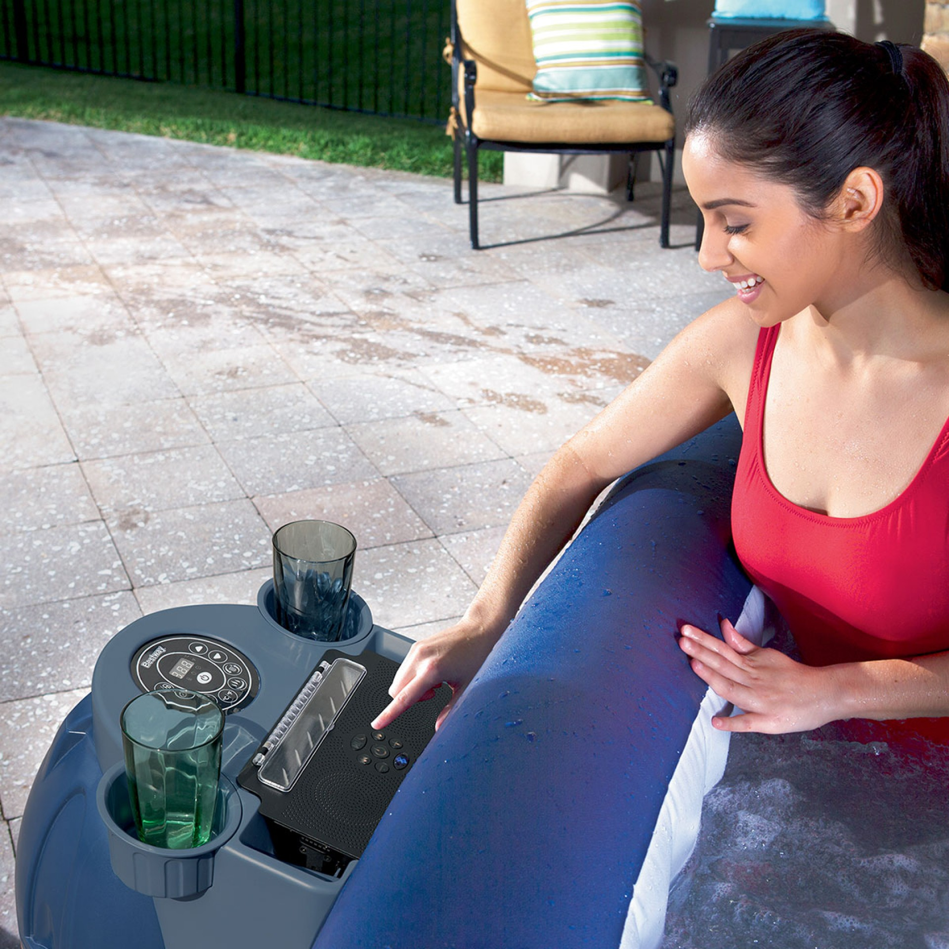 Lay Z Spa Bluetooth Speaker System - Hot Tub Hire - www.bigbouncybriers.co