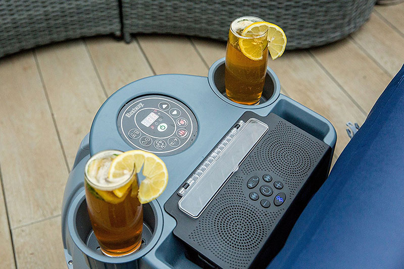 Lay Z Spa Bluetooth Speaker System With Drinks - Hot Tub Hire - www.bigbouncybriers.co