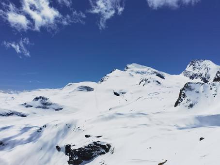 Panorama on the ski,  Strahlhorn 4190 m