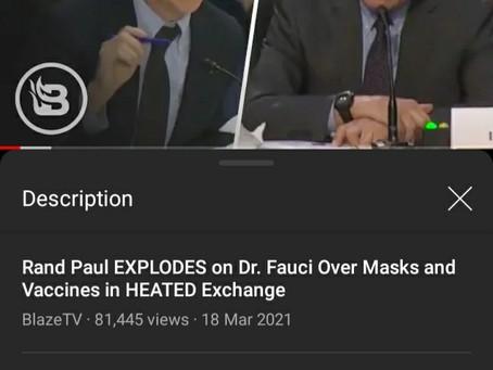 Rand Paul destroys Dr Fauchi