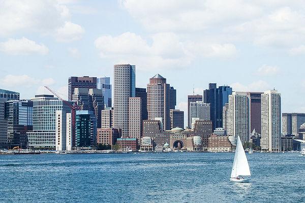 Drone of Boston skyline