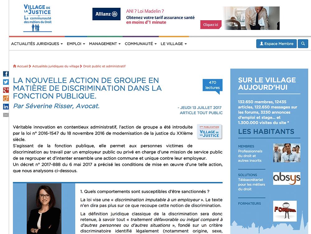 Severine Risser - Village justice - interview