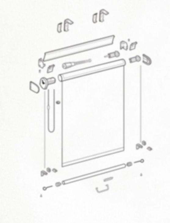 Схема рулонной шторы системы LUX 1.2.