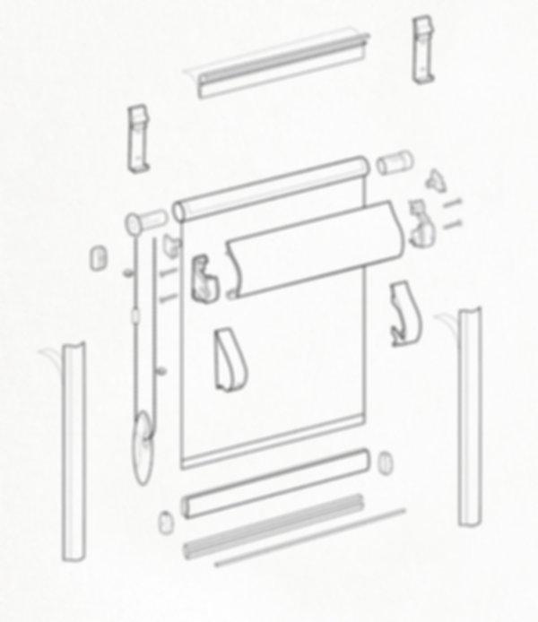 Схема рулонной шторы системы UNI 1.