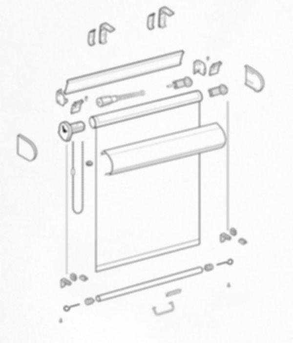 Схема рулонной шторы системы LUX 1.3.
