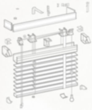 Схема сборки горизонтальных жалюзи AMILUX 50мм.