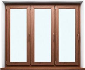 Деревянные окна, тройные.