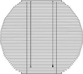 Горизонтальные алюминиевые жалюзи КРУГ Амиго Дизайн