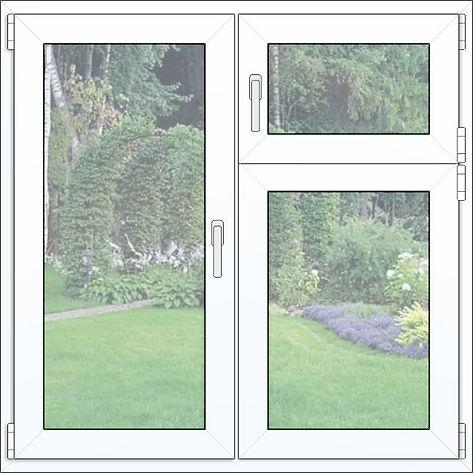 Пластиковые окна с форточкой. VEKA.