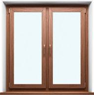 Деревянные окна, двойные.