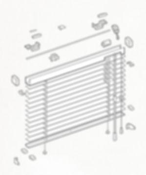 Схема сборки горизонтальных жалюзи HOLIS.