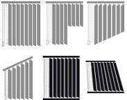 Вертикальные жалюзи с двумя параллельными карнизами Амиго Дизайн