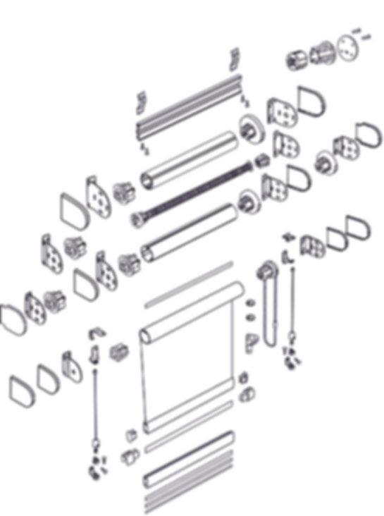 Схема рулонной шторы системы LOUVOLITE классика.