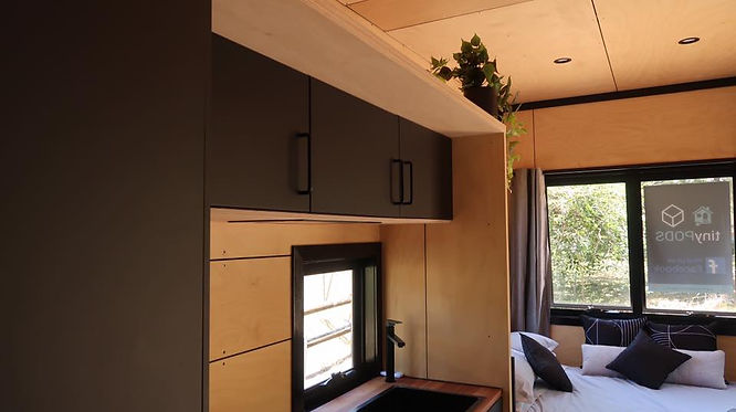 Tiny House Sunshine Coast Monochrome Interior
