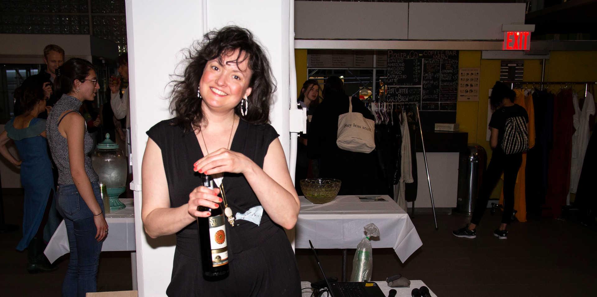 Amber as bartender
