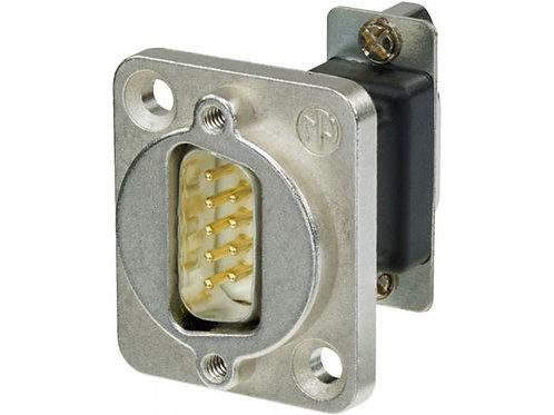 9-pole D-sub feed-through panel plug