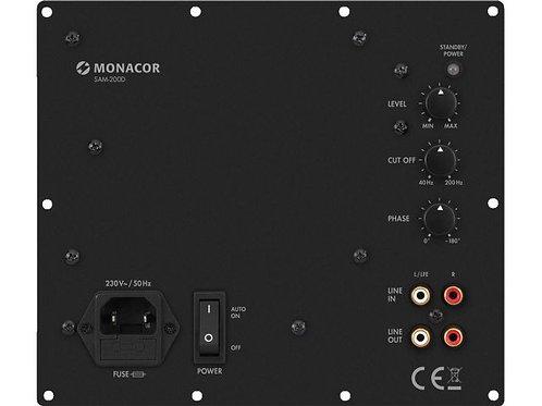 Class D active subwoofer module, 200 W at 4 ?