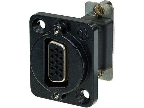 15-pole feed-through panel jack
