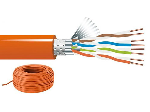 Cat. 7A/ installation cable, 100 m, S/FTP, multiple shielding