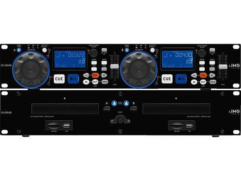 DJ dual CD and MP3 player
