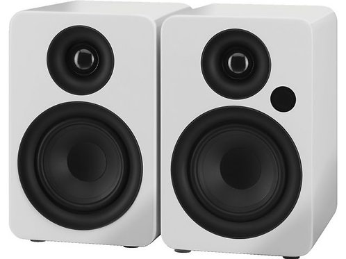 Active 2-way stereo speaker system