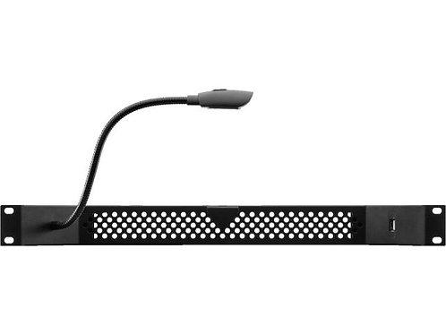 """482 mm (19"""") rack light, 1 RS, ;gooseneck light, USB port"""