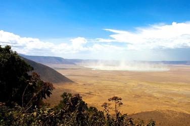 Dry season crater