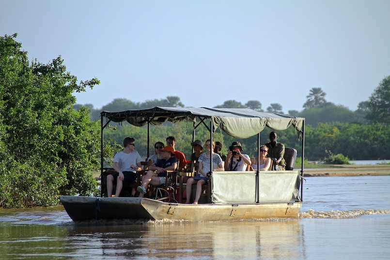 Boat safari Rufiji River Camp