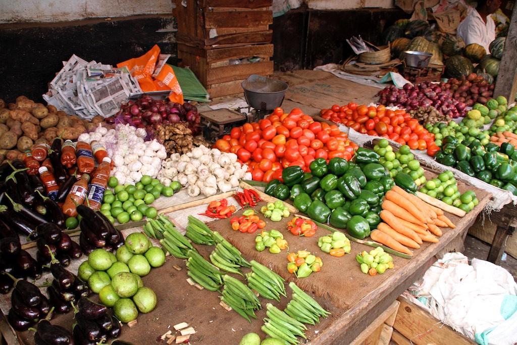 Vegetables Stone Town market