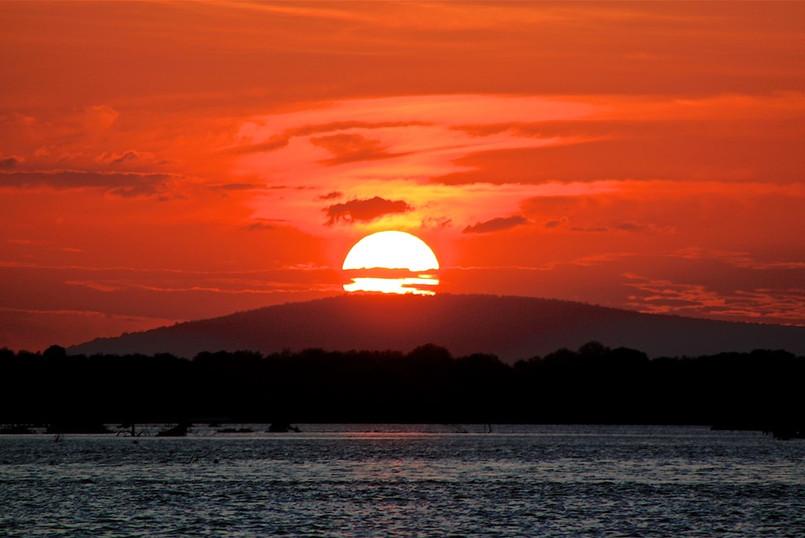 Rufiji River boat safari sunset