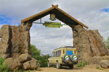 Lake Manyara entry gate
