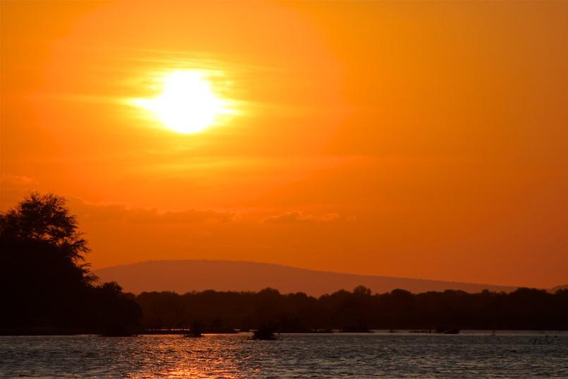 Rufiji Boat safari sunset