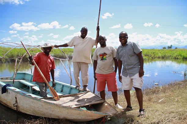 The boys at Kilombero River