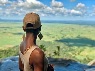 Zawadi on top of Sanje Falls in Udzungwa