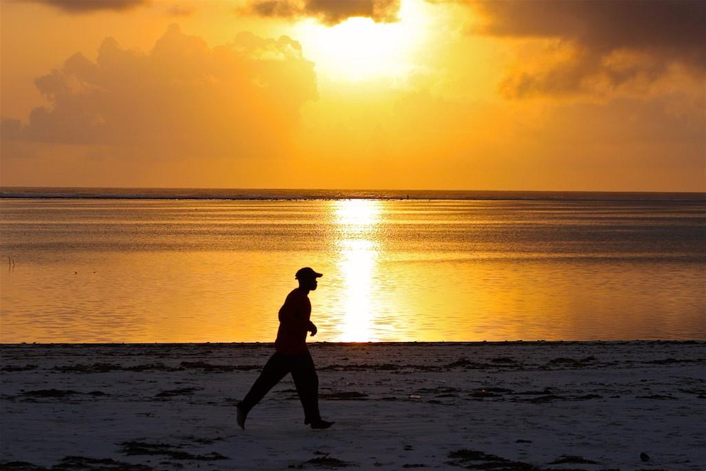 Jogging on Zanzibar