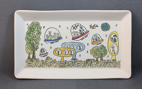 Story Plate, 6x10--A Beautiful Day in Alienville