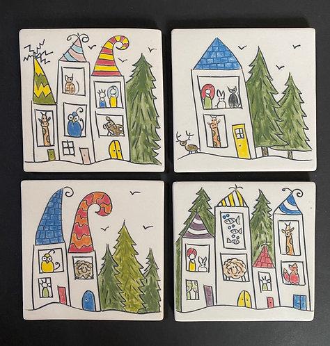 Coasters--1,2,3,4 Inhabited Houses