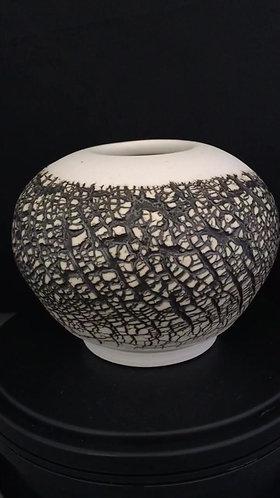 Small Sphere w/gold glaze