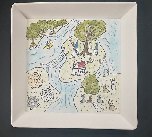 Islands in the Stream--Story Plate, 7x7