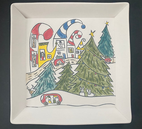 Holidays are Coming! -- Story Plate, 7x7