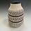 Thumbnail: Banded Vase w/black rings & blue interior