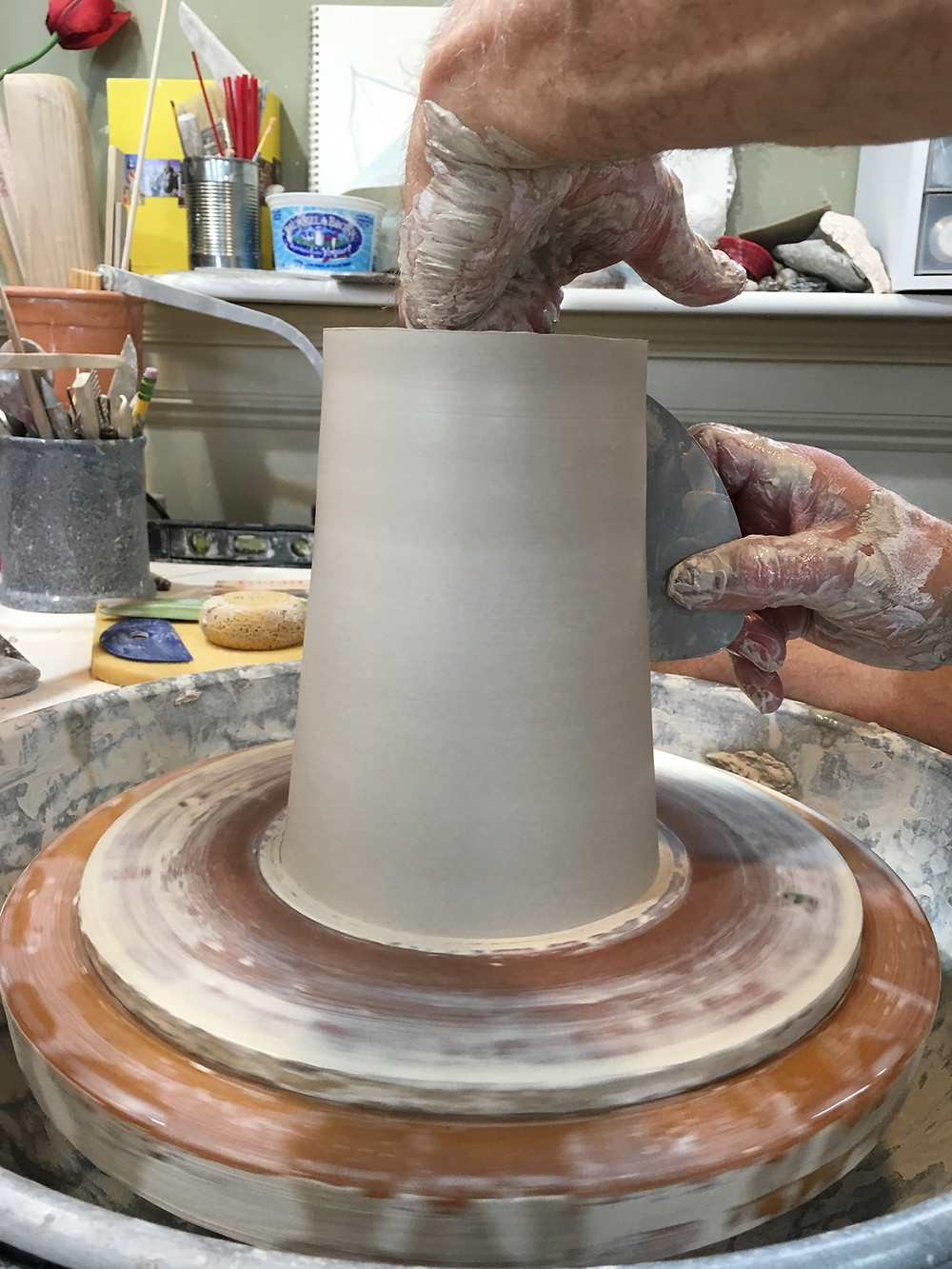 Forming the cylinder.
