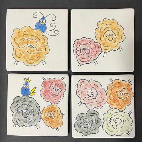 Coasters -- 1, 2, 3, 4 Sheep!