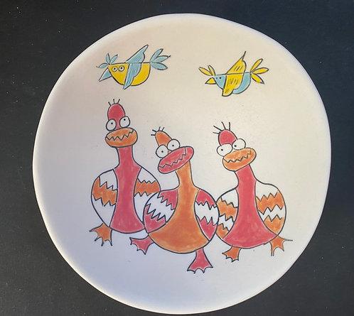 Silly Ducks on Parade - medium low profile bowl